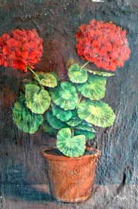 schilderij geranium