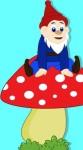 op paddenstoel